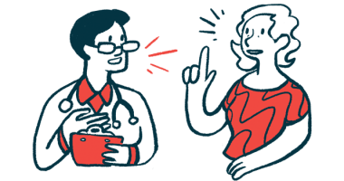 presymptomatic disease | Huntington's Disease News | Illustration of doctor and patient talking